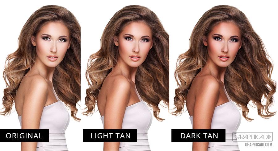 Light and dark tan