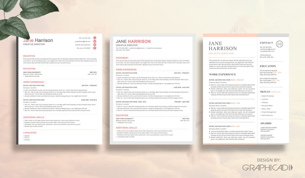 Etsy resume templates
