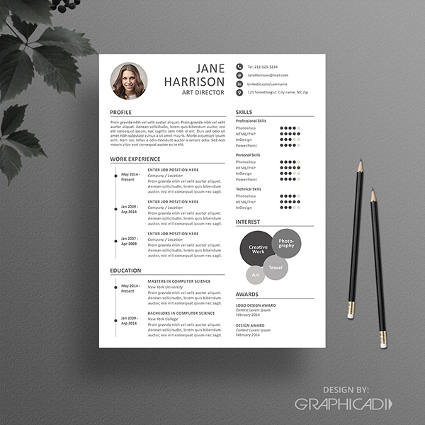 Resume Template with Timeline