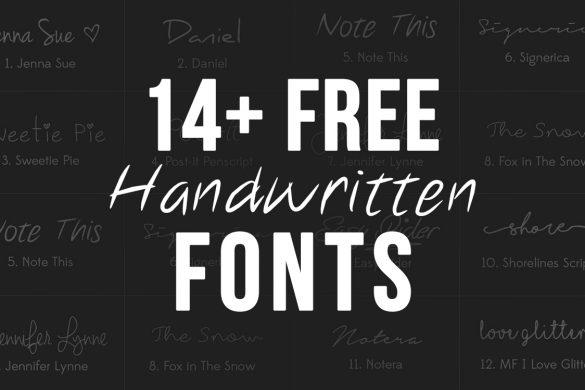 14 free handwritten fonts
