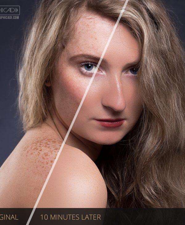 Skin retouch demo