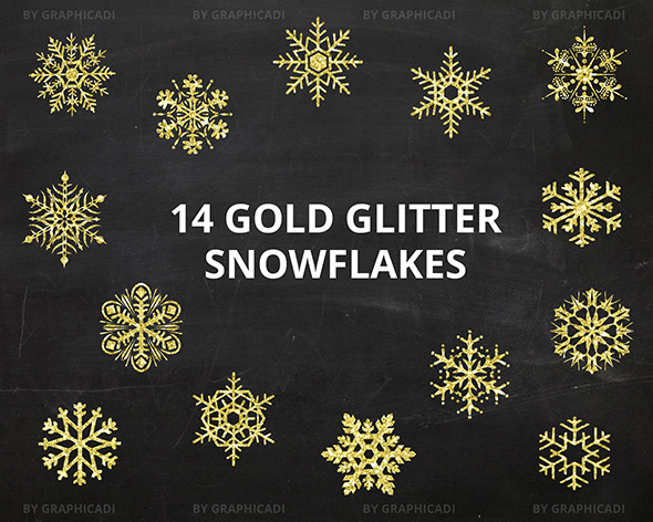 Golden snowflakes