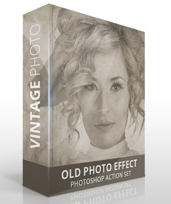 Old vintage photo effect for Photoshop
