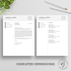 Cover letter and reference page