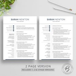 1, 2, and 3 page resume template