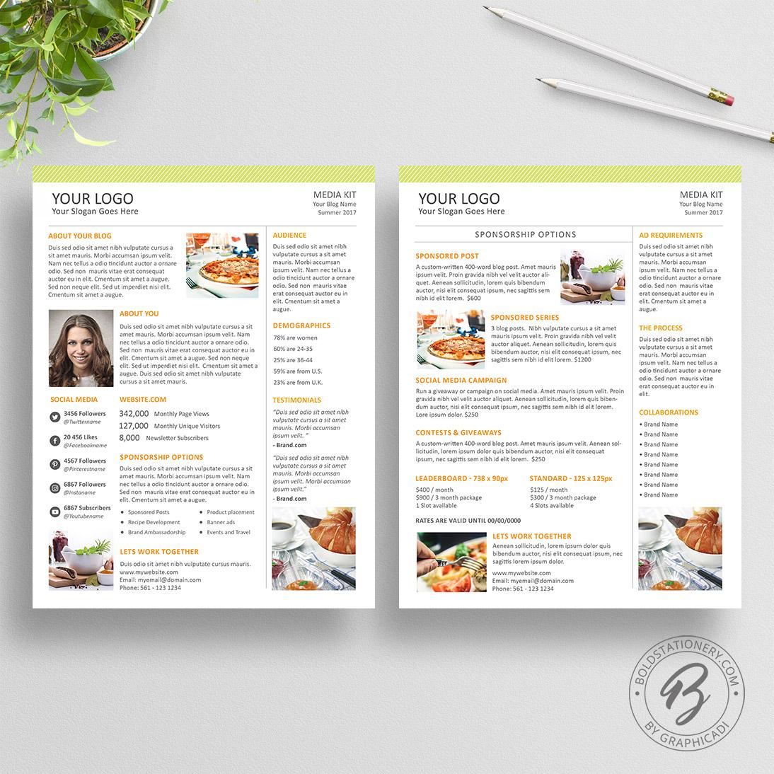 Media Kit Template | Media Kit Template 02 Graphicadi