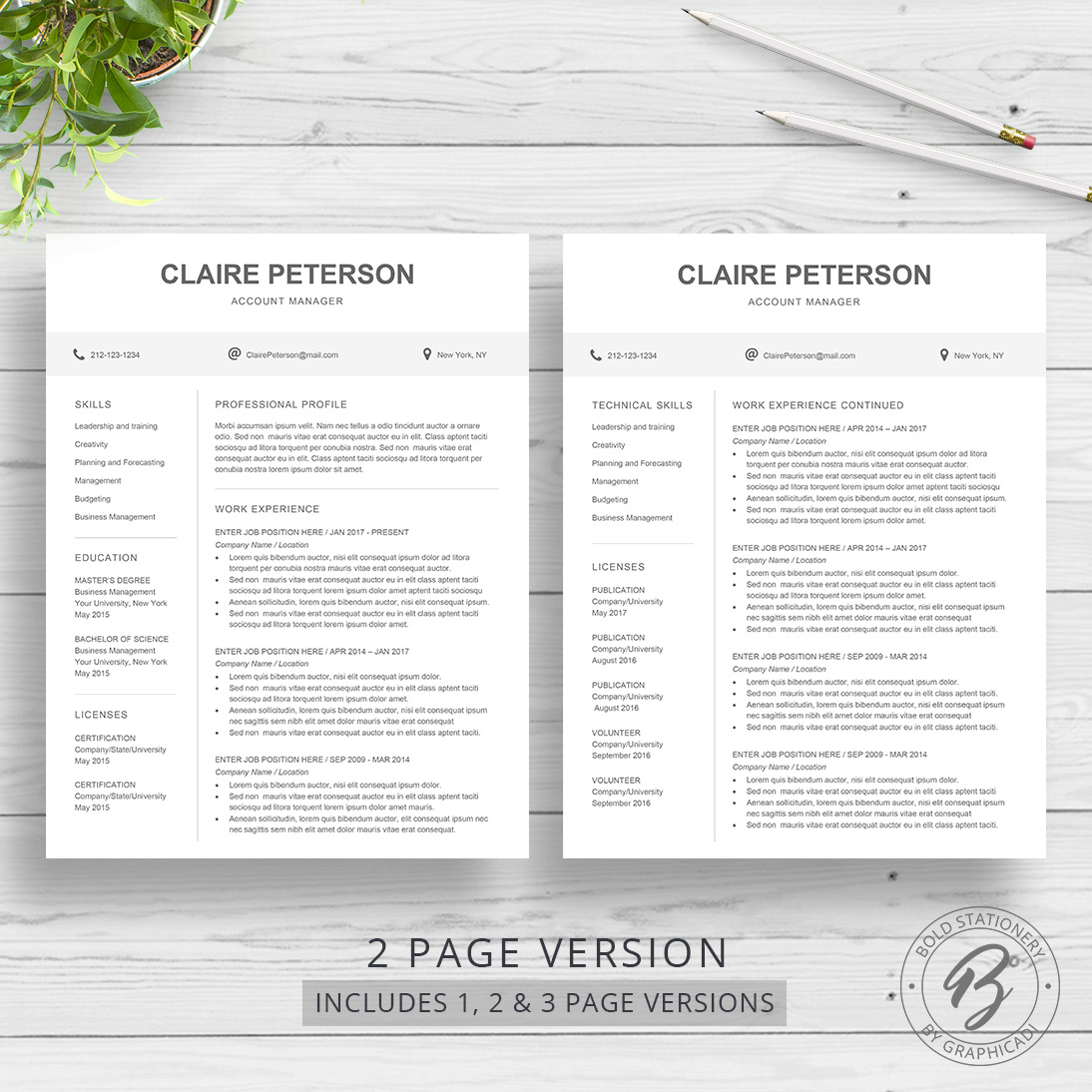 Resume Template Claire  Graphicadi