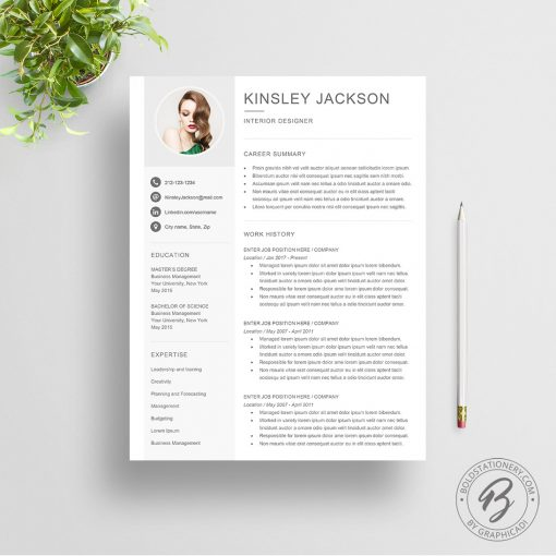 Resume template Kinsley