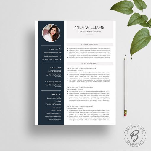 Resume template Mila