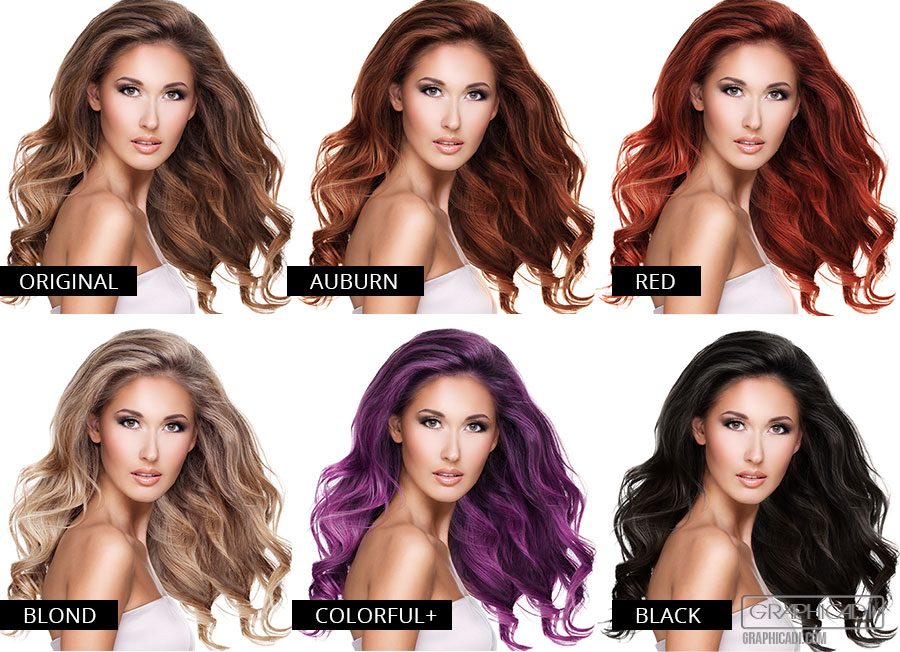 5 pre made hair colors. Fully adjustable.