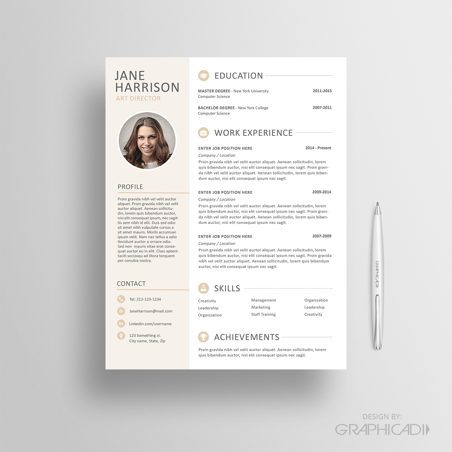 How to Design an EyeCatching Resume Graphicadi