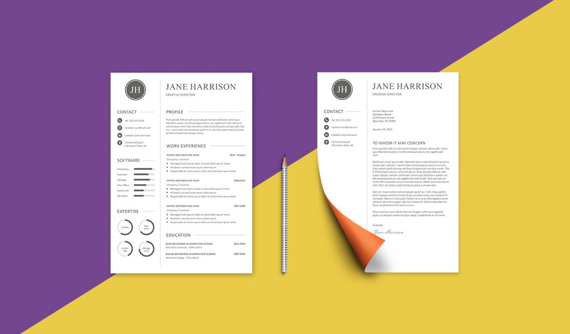 Free resume template and cover letter graphicadi free resume template madrichimfo Images