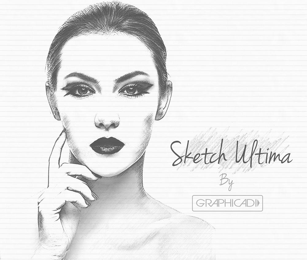 Sketch Photoshop Actions - Graphicadi