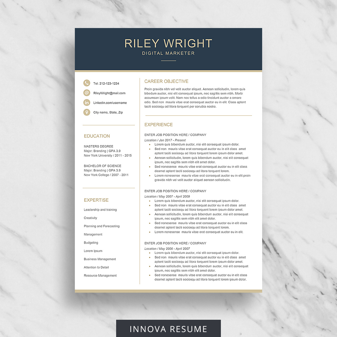 10 Best Etsy Resume Templates Graphicadi