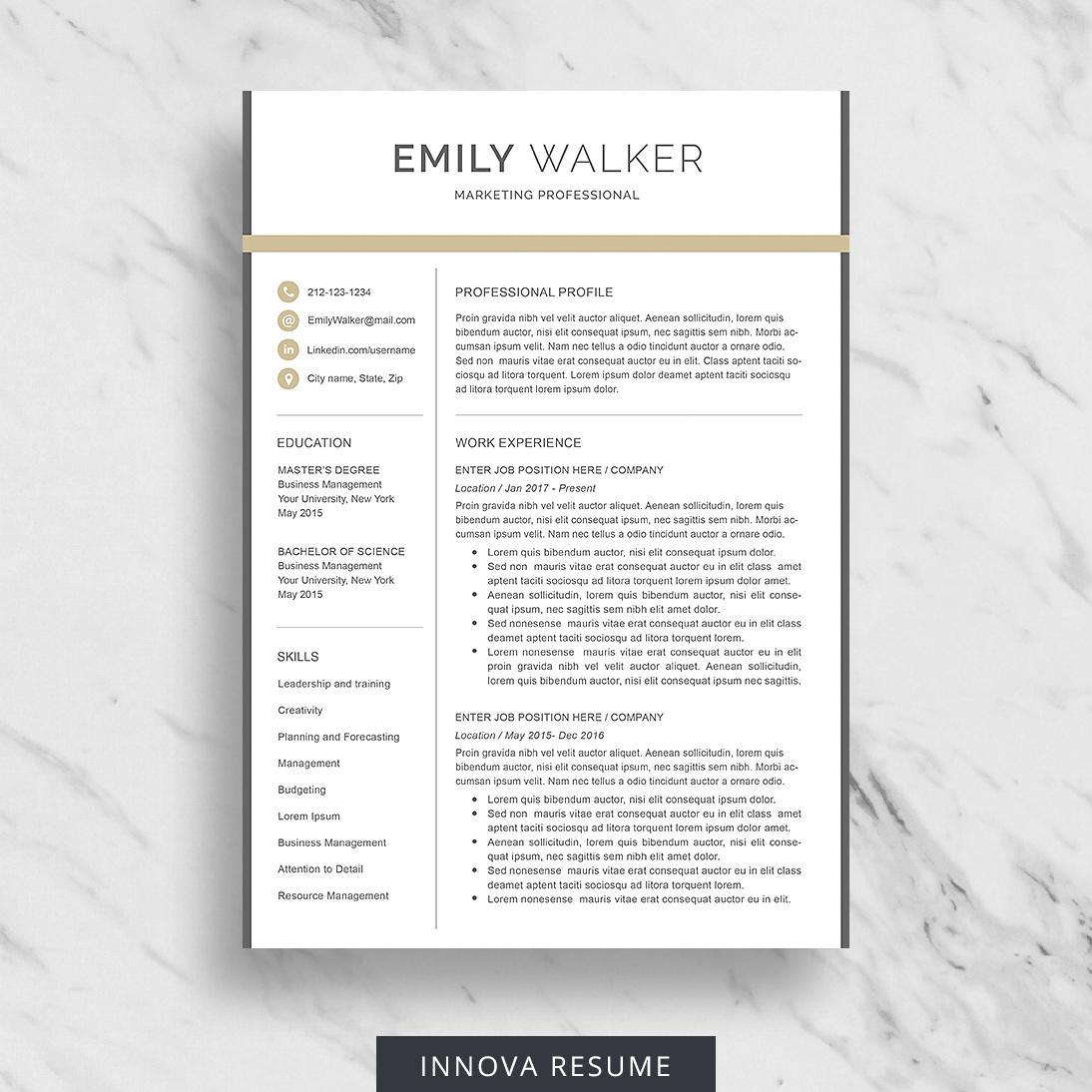 Best Etsy Resume Templates  Graphicadi