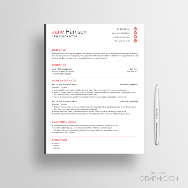 resume template free ats optimized word friendly example
