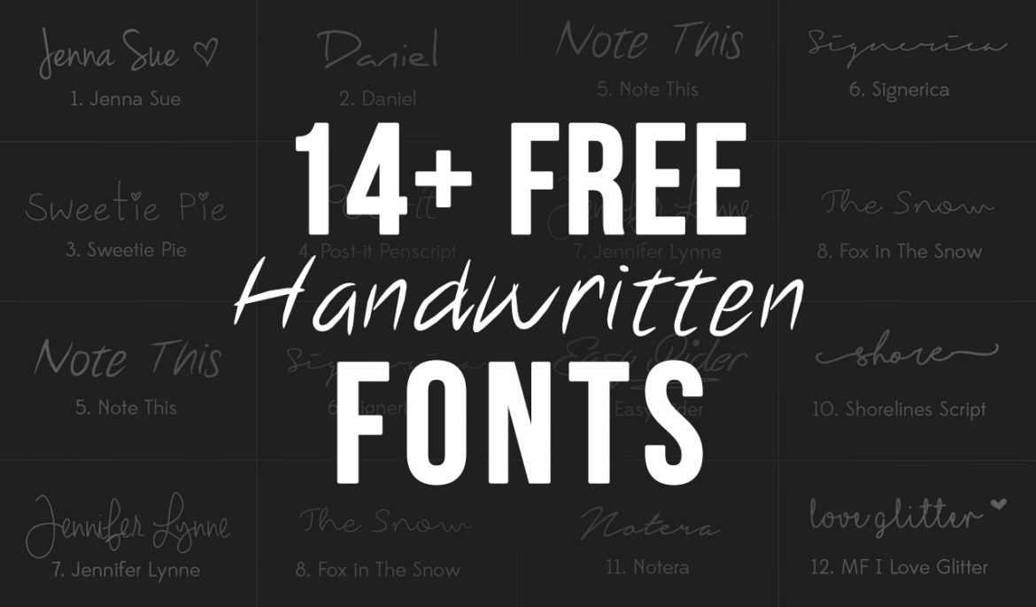 14 free handwritten fonts
