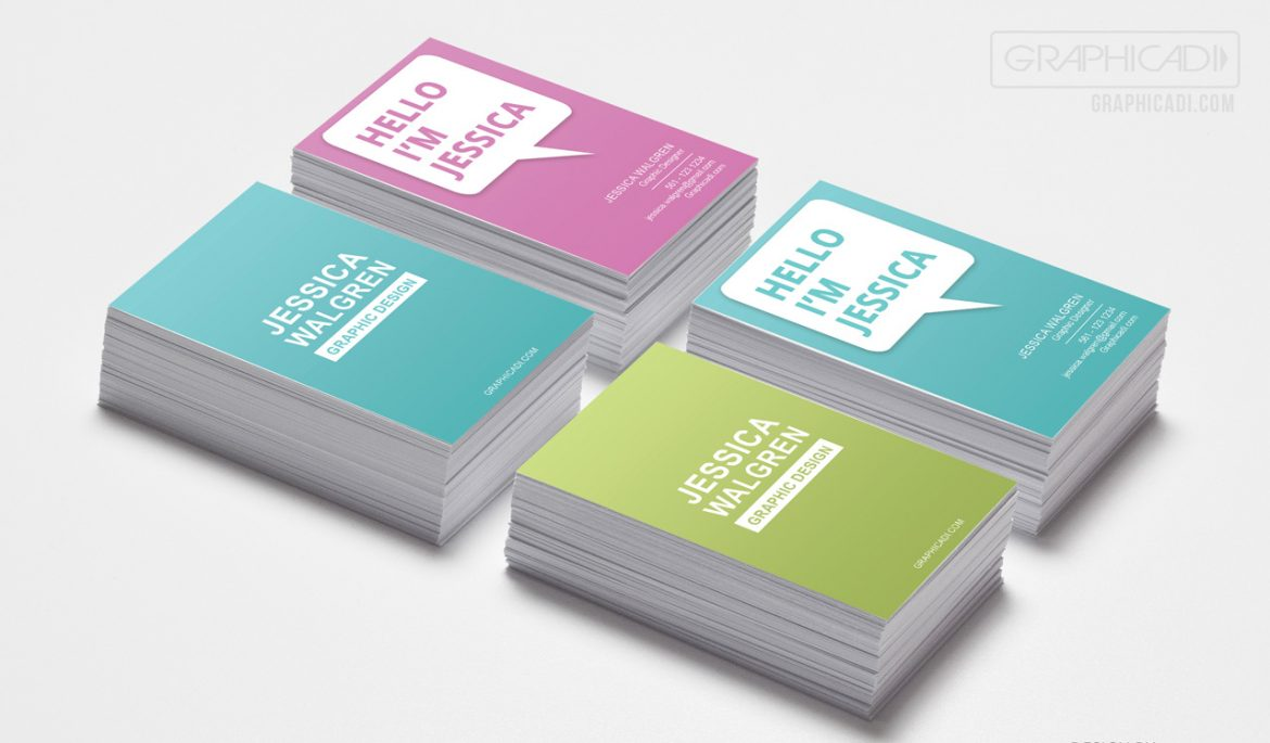 Free Business Card Template Graphicadi