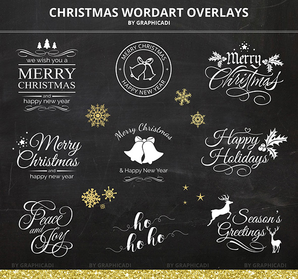 Christmas overlays - Christmas templates