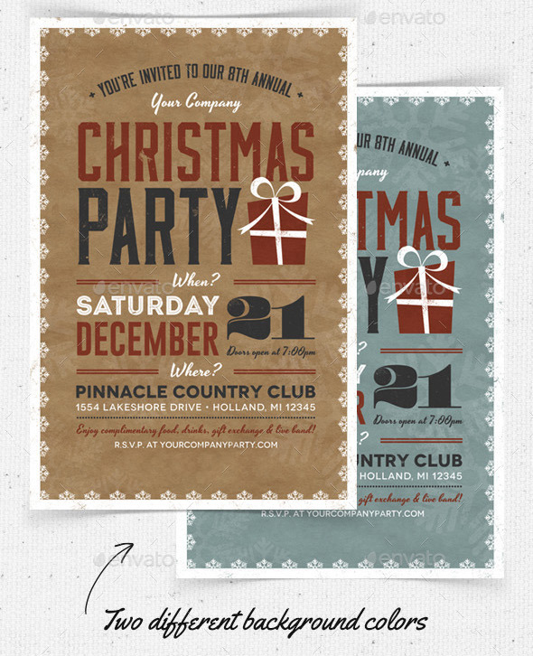 Company Holiday Party Invitation Template  DiabetesmangInfo