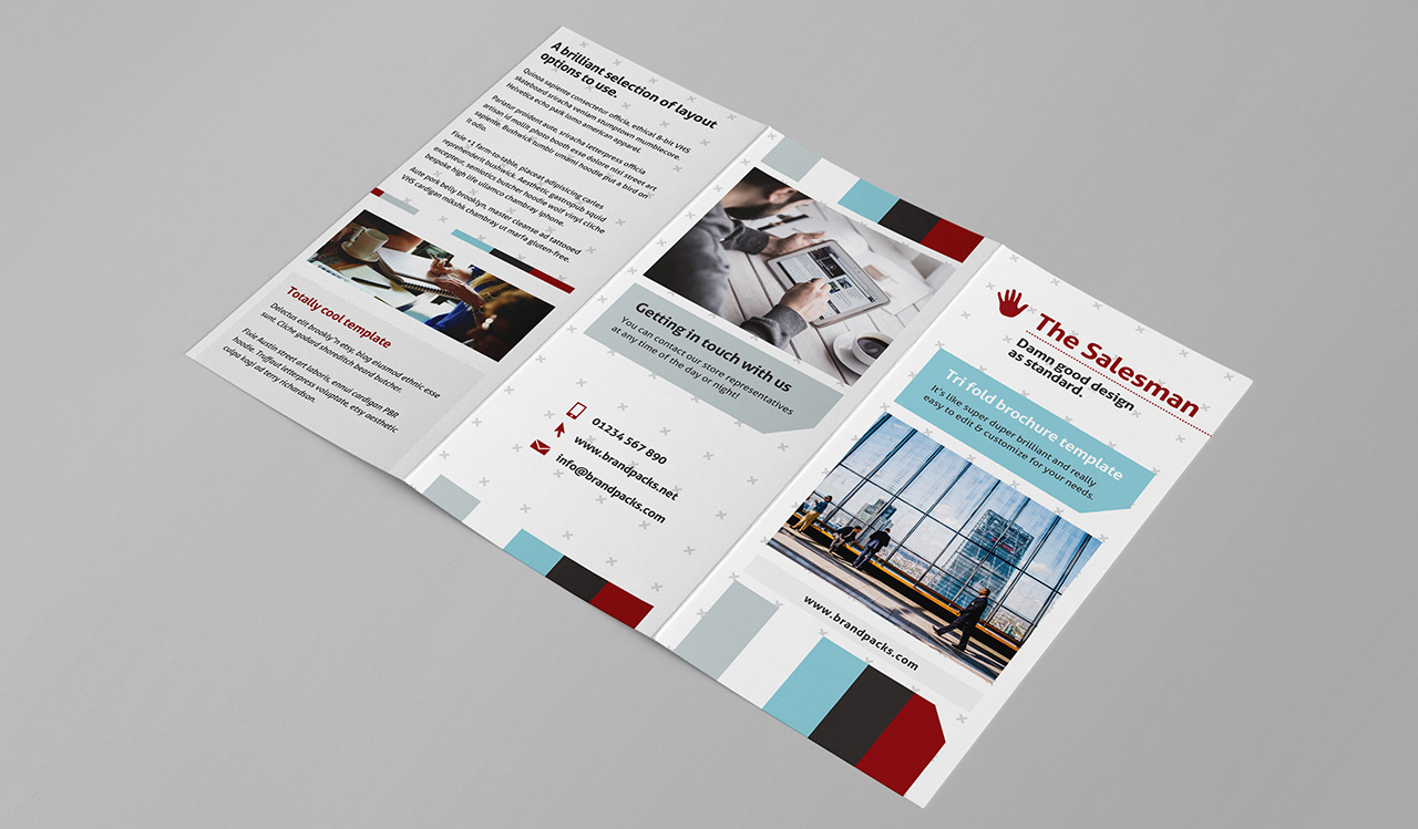 Free Trifold Brochure Template For Photoshop Illustrator - Folded brochure template