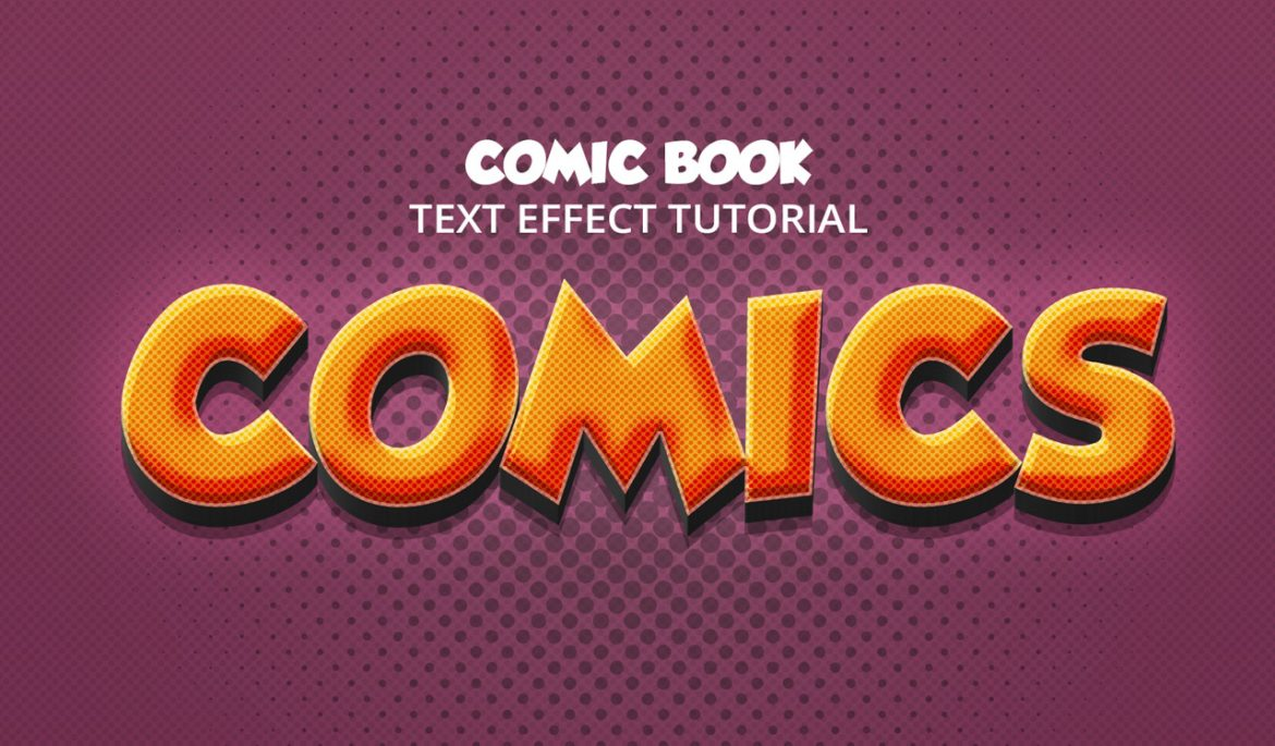 Comic book text effect