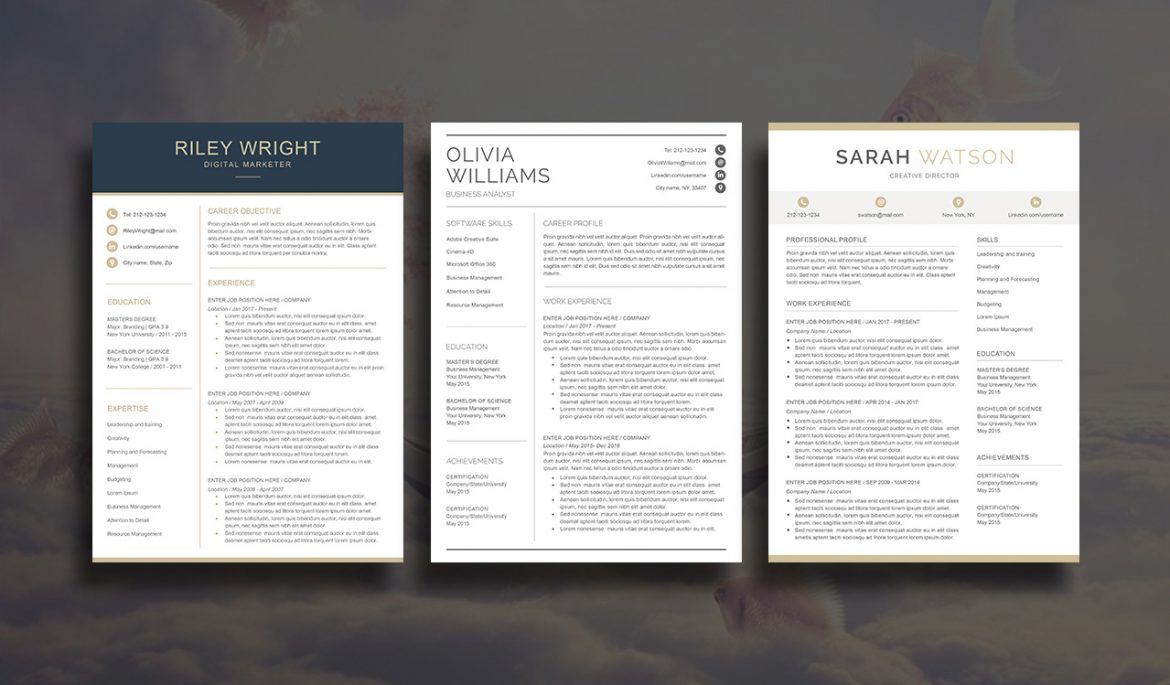 10  best etsy resume templates
