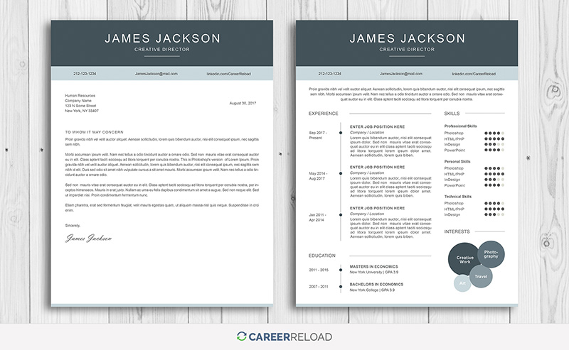 Free Creative Resume Template For Photoshop