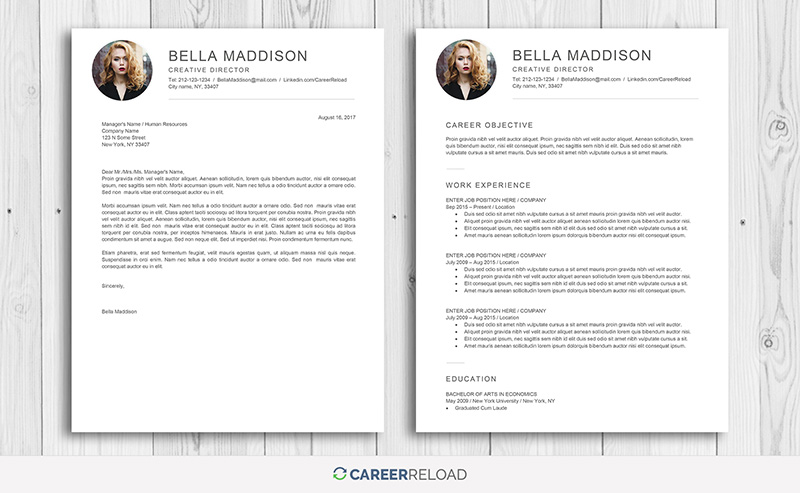 Word resume with photo