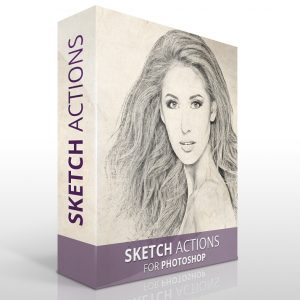 Sketch actions for Photoshop