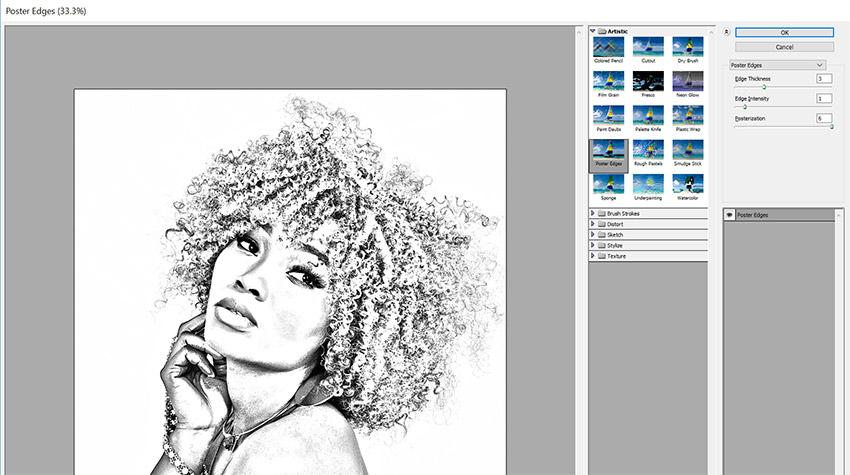Sketch effect tutorial