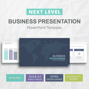 Business-presentation PowerPoint template