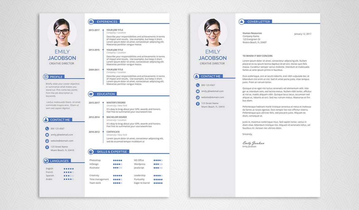 Free CV Template and Cover Letter - Graphicadi