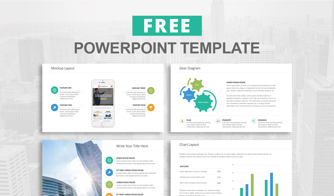 free powerpoint template prev