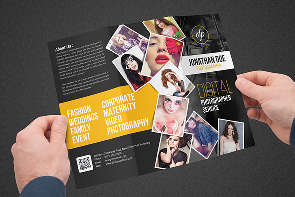 photography trifold