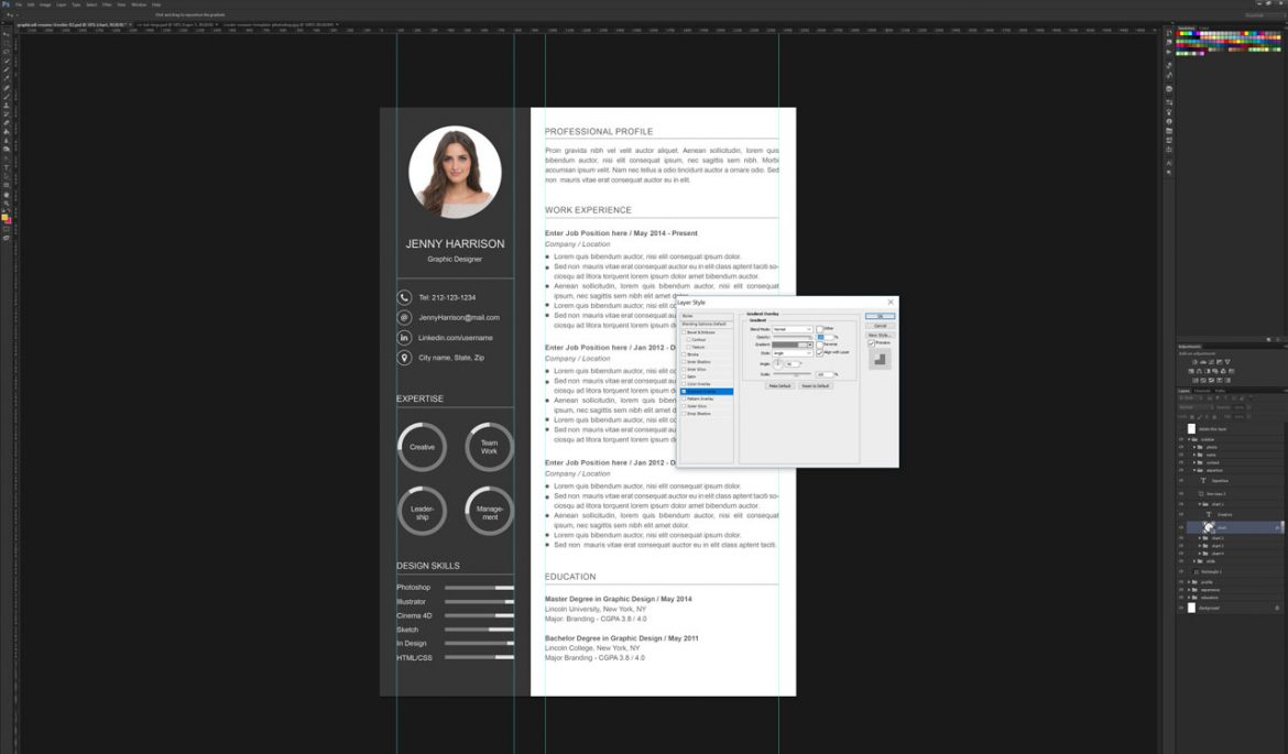 how to create a resume template in photoshop graphicadi